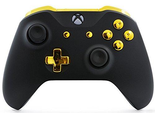 Schwarz/Gold Xbox One S un-modded Custom Controller Einzigartiges Design (mit 3,5Klinke)