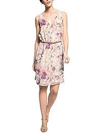 ESPRIT Collection Damen Cocktail Kleid fließender Chiffon, Knielang