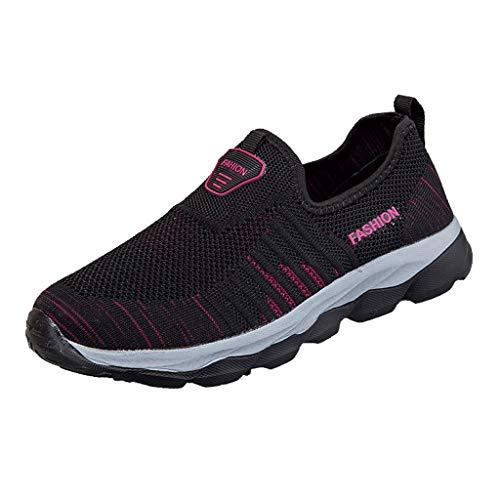 Bluestercool Scarpe da Passeggio Estive da Donna Sportive Scarpe Casual Coppia Modelli Vecchie Scarpe in Rete Scarpe Fitness Dimagranti Scarpe
