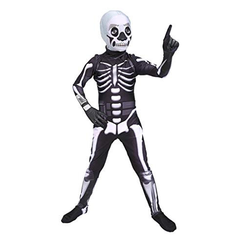 YEGEYA Halloween Cosplay Kostüm Ghost Faces Consternation Show Kostüme Erwachsene Kinder Parenting Kostüme (Color : Child, Size : XS) (Ghost Face Kostüm Kinder)