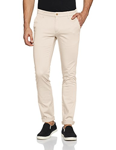 Ruggers by Unlimited Men's Casual Trousers (8907542612178_271406424_ECRU_38_IN-33)