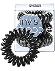 Invisibobble Traceless Haargummi und Armband, true black, 3 Stück