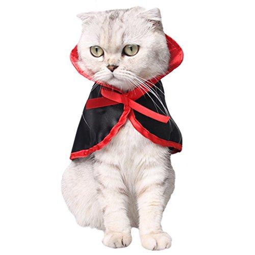 umes, Hunde Halloween Kostüme Cute Cosplay Vampir Umhang Cape für Kleine Hunde Katzen ()