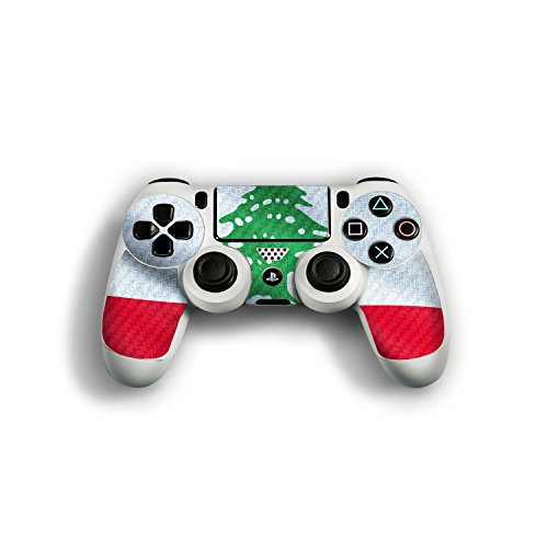"Sony Playstation 4 Controller Designfolie ""Libanon Flagge"" Skin Aufkleber für Playstation 4 Controller (PS4)"