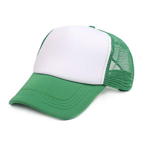 LZX Baseballmütze Sommer hüte baseballmütze männer Sonnenschirm mesh net Hut Frauen Casual Sport Sonnenblende Cap s,Green