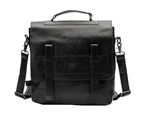 Santimon Mode Retro Schulter Tasche Fur Manner Jugendliche Handtaschen Schultaschen Laptop Rucksack Schwarz