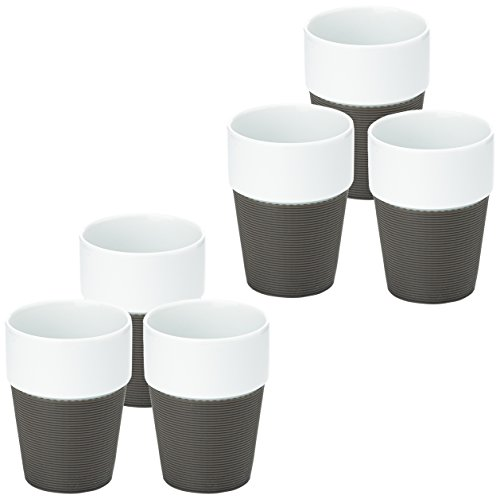 Novastyl Lot de 6 Tasses 25 CL Marron Bavarois