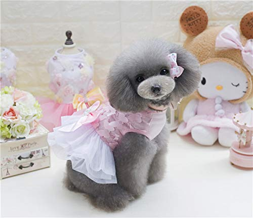 Spring Butterfly Kostüm - lipanpan Butterfly Flying Skirt Princess Pet Clothing Puppy Than Bear Little Teddy Dog Clothes Summer Spring Thin
