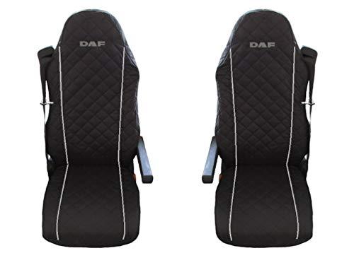 Preisvergleich Produktbild Unknow LKW DAF XF;LF 95;105 2 x LKW-Sitzbezüge Graue Beats / 1 für den Fahrer und 1 für den Beifahrersitz
