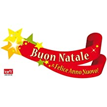 Noël Sticker Adhésif Fenêtres Autocollant - Buon Natale E Felice Anno Nuovo! (120 x 60 cm)