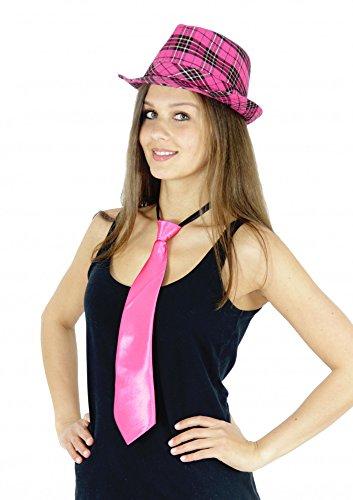 Foxxeo 35241 | pinke Krawatte für Damen Karneval Fasching JGA Party pink rosa
