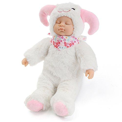 Andensoner Baby Doll Clothes, 25cm Ovejas Lindas Ropa Recién Nacido Dormir Soft Vinyl Reborn Baby Doll Regalo de Los Niños