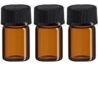 24(5/8DRAM-) 2ml Bernstein Glas ätherisches Öl Flasche mit Öffnung Reducer und Gap preisvergleich bei billige-tabletten.eu