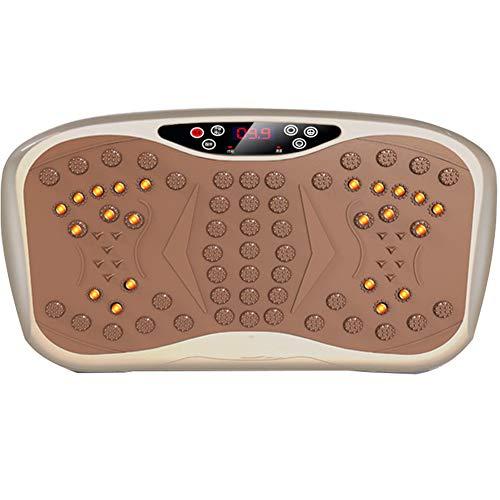 GLXLSBZ Vibration Plate Home, Dünne Vibrationsplatte Mit USB- Und Bluetooth-Musik-Player Und Magnetfeldtherapie - Verrückte, Schlanke Massage-Fitness-oszillationsplatte Mini, Gold