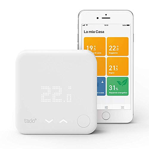 Tado° Termostato Intelligente Kit di Base V3+ - Gestione intelligente del riscaldamento, compatibile con Amazon Alexa, Apple HomeKit, Assistente Google, IFTTT