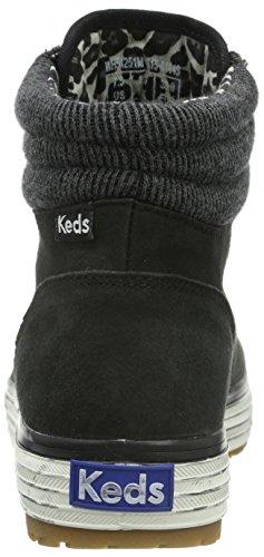 Keds - Hi Rise Vint. Distr. Lth-black, Sneaker Donna Nero (Nero (nero))