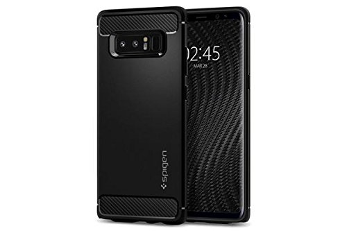 Spigen 587CS22061 - Custodia per Samsung Galaxy Note 8, Nero, 6.3""