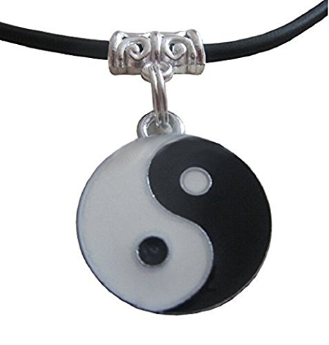 Tao Yin Und Yang-Symbol Halskette Mit Geschenkidee Schwarzer Schnur Gurt Kann FüR Junge MäDchen Unisex MäNner Frauen Junge MäDchen Mann Besondere Frau
