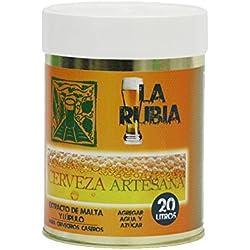 Malta preparada Cerveza Artesana LA RUBIA 20 Litros