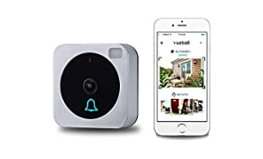 Netvue Timbre de Control Remoto Inalámbrico, con Vídeo y WiFi, Inteligente, Electrónico, Imagen de Vídeo HD 720p (Doorbell001)