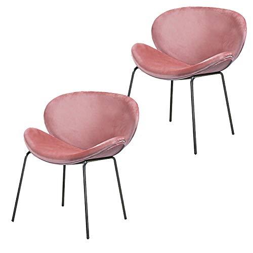 Nicemoods sillas Comedor Pack 2,Sillas de Terciopelo Retro Lounge con Diseño Moderno,Asiento...