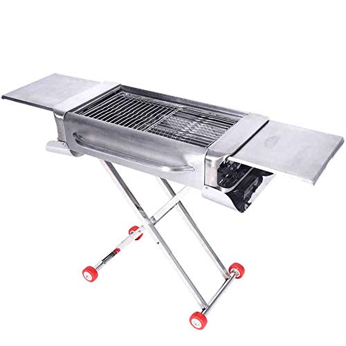 T-XYD Tragbare BBQ Holzkohle Edelstahl Grill Outdoor