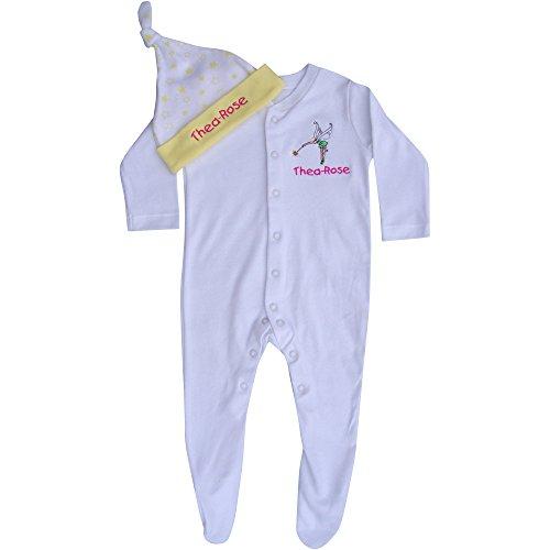 TeddyT's Baby Mädchen (0-24 Monate) Schlafstrampler weiß weiß M  Gr. 9-12 Monate, weiß