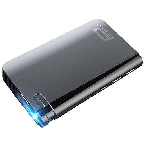 AXDNH Minl Projektor, HD Home 1080P Bildschirmloses Fernsehen Drahtloses WiFi Automatische Trapezkorrektur Schwerkraftsensor Mobiler, intelligenter Projektor Heimkino-Videoprojektor