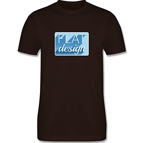 Nerds & Geeks - Flat design - Herren Premium T-Shirt Braun