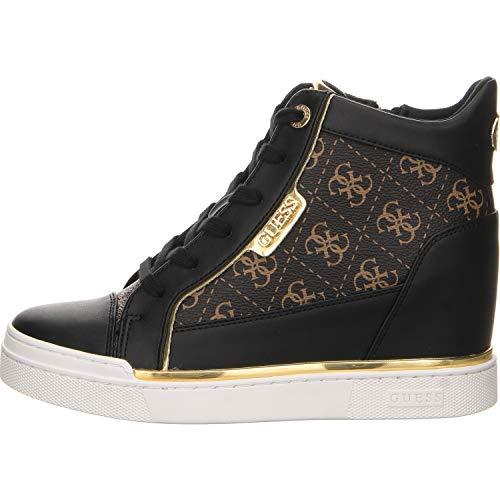 Guess scarpe donna sneakers con zeppa interna fl7fabfal12 nero taglia 38 nero