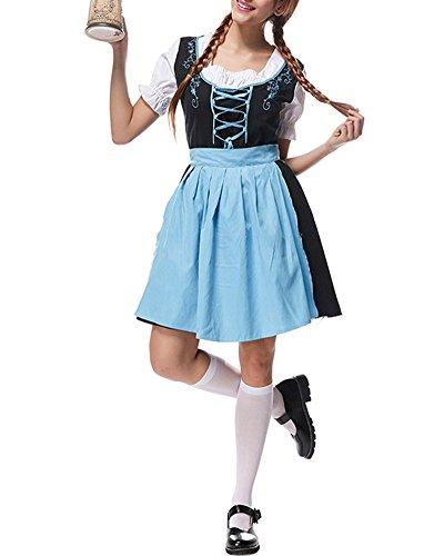 Tedesca Oktoberfest Bavarese Birra Cosplay Costumi Halloween L