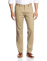 IZOD Mens Casual Trousers (8907163574756_ZKTR0007_30W x 34L_Beige)