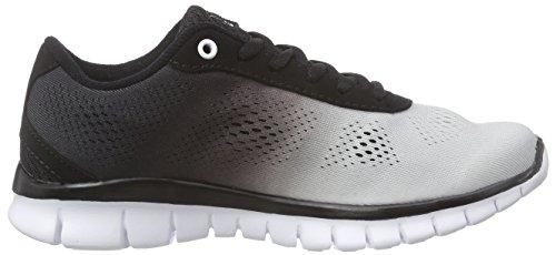 Kappa Sunrise Light Footwear Unisex, Mesh/Synthetic, Baskets Basses Mixte Adulte Blanc (White/black)