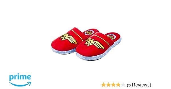 6d3a86121552 Womens DC Comics Wonder Woman Slip On Slippers  Amazon.co.uk  Clothing