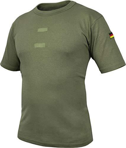 normani Bundeswehr Tropen T-Shirt mit Deutschlandfahnen und Klettstreifen Farbe Olive Größe 9 = XXL