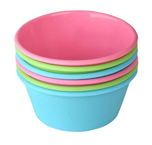 bakerpan Silikon Mini Kuchenform, groß Muffin Cup, 31/5,1cm Backförmchen, 6Stück mehrfarbig 6-cup Muffin Pan