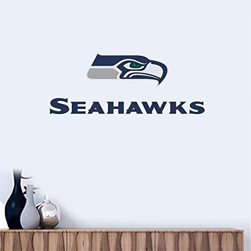 Wandtattoo Seattle Seahawks # 7 Team Logo Wandaufkleber Vinyl Wandaufklebe