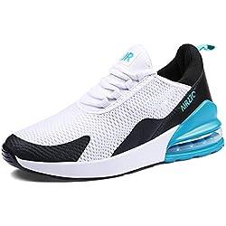GJRRX Chaussures de Gym/ Multisports Baskets Casual pour homme Yx270 Blanc Bleu 39 EU