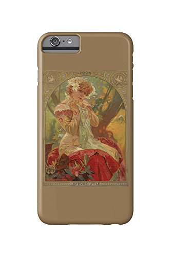 Lefevre - Utile - Sarah Bernhardt Vintage Poster (artist: Mucha, Alphonse) France c. 1903 (iPhone 6 Plus Cell Phone Case, Slim Barely There)