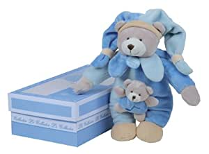 doudou et compagnie doudou collector ours bo te musique bleu poudr b b s. Black Bedroom Furniture Sets. Home Design Ideas