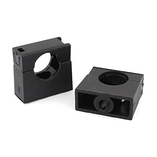 Aexit Abrazadera de soporte de clip de tubo de montaje fijo negro...