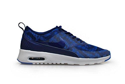 Nike Air Max Thea Jacquard, Sneaker Basse Donna profonda blu elettrico blu elettrico platino 401