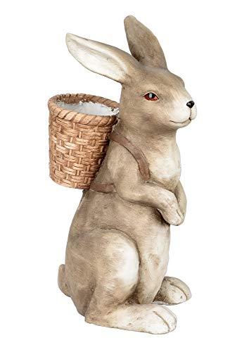 Hase Korb Kiepe Oster Hasen Kaninchen Deko Garten Figur Dekohase Skulptur Statue