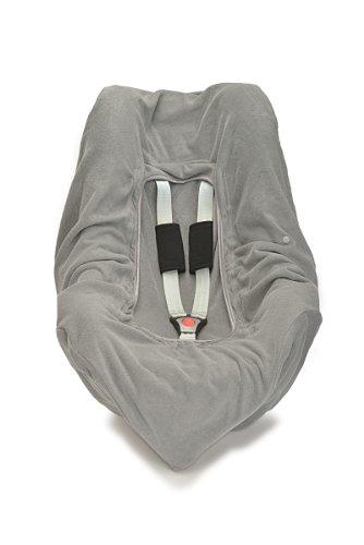 HOPPEDIZ® Einschlagdecke STEIN aus Baumwoll-Frottee (GOTS) für 3 & 5 Punkt Gurtsysteme