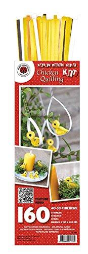 Karen Marie Quilling-Set Chicken 160 Papierstreifen mit Anleitung Küken Ostern Chicken-set