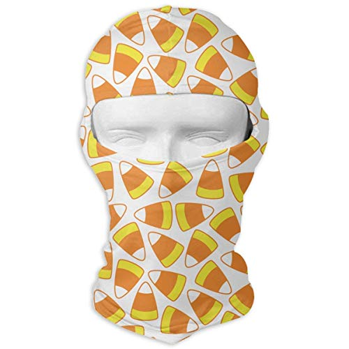 Wfispiy Neck Hood Full Face Mask Hat Sunscreen Breathable Quick Drying Candy Corn Seamless Vector Pattern Men Women -