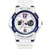 Blisfille Uhr Damen Damenuhr Quarz Uhr Multifunktional Blau Outdoor Sportuhr Armbanduhr Automatikuhr