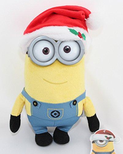 (Minions Plüschtier Plüsch Figur Kuscheltier Stofftier Kevin Plastikauge Weihnachten ca. 28cm [Versand durch Konsumany®])