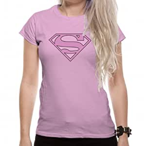 t shirt femme rose superman pink glitter superman. Black Bedroom Furniture Sets. Home Design Ideas