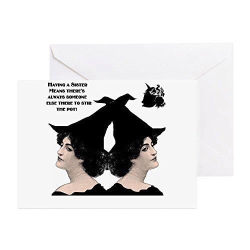 CafePress–Rossini Starke Frauen Hexe Stir Topf klein W Greeti–Grußkarte, Note Karte, Geburtstagskarte, innen blanko, matt